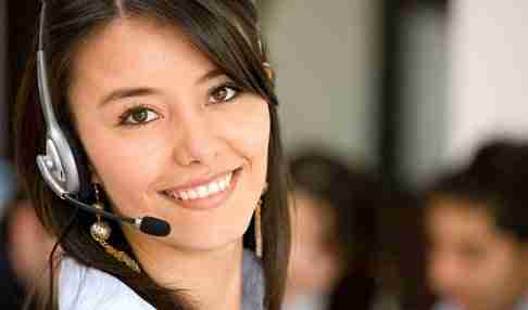 Lady customer service officer
