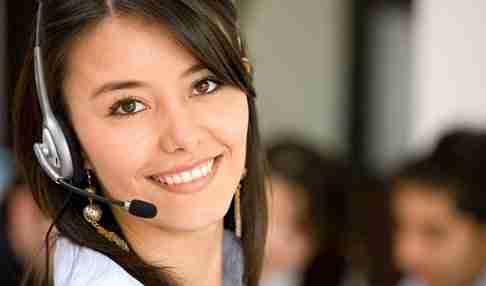 Lady customer service officer