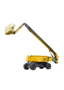 Yellow telescopic boom lift