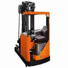 Orange Toyota reach truck